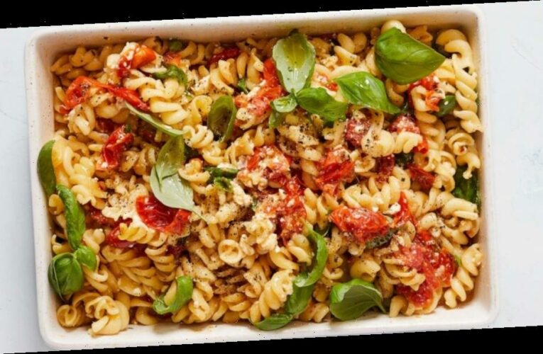 Try the New York Times Food's take on roasted tomatoes and cheese pasta