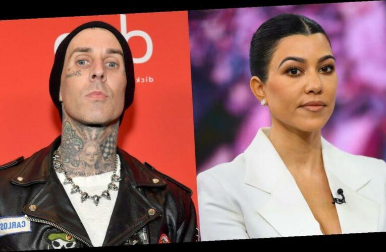 Travis Barker gets Kourtney Kardashian's name tattooed on his chest