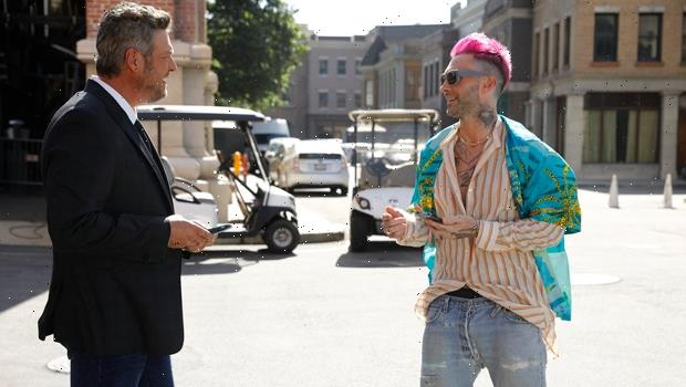 Adam Levine Shows Off Pink Hair Makeover During His Epic Return To 'The Voice'