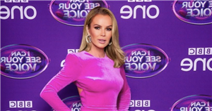 Amanda Holden poses completely nude with just banknotes covering her modesty
