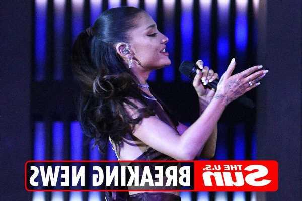 Ariana Grande flashes MASSIVE diamond engagement ring at iHeartRadio Music Awards after secret wedding to Dalton Gomez