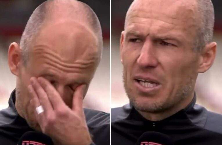 Arjen Robben in TEARS after making first start since September and claiming two assists in Groningen win