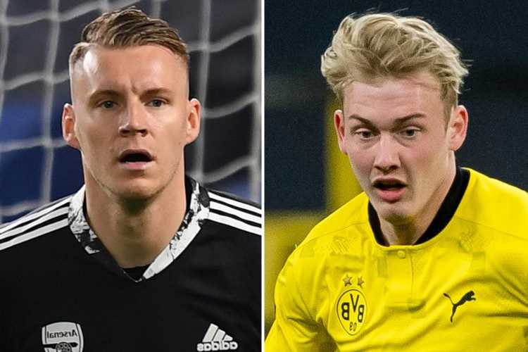 Arsenal boost in Julian Brandt chase as Bernd Leno texts close friend to beg him to make £22million summer transfer