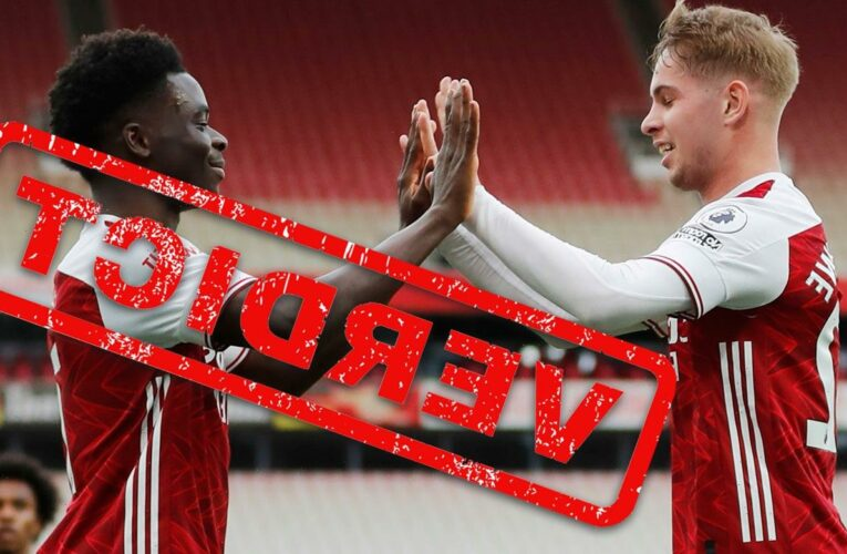 Arsenal verdict: Whizkids Bukayo Saka and Emile Smith Rowe star but win doesn't gloss over Europa League humbling