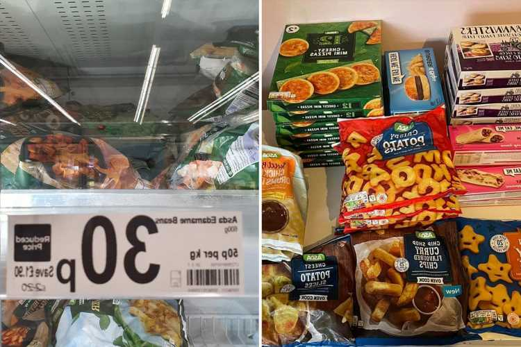Asda shopper shows off massive frozen food haul of burgers & pizzas from 15p & it'd keep most families going for weeks