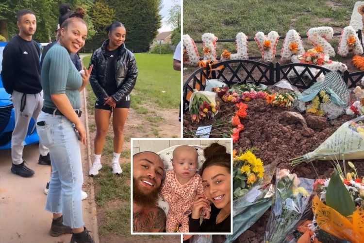 Ashley Cain's family rally around to help him and Safiyya make baby Azaylia's grave 'beautiful'