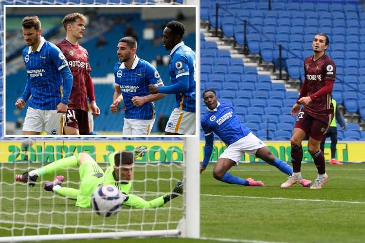 Brighton 2 Leeds 0: Gross and Welbeck put Seagulls on brink of Premier League survival after easing to win