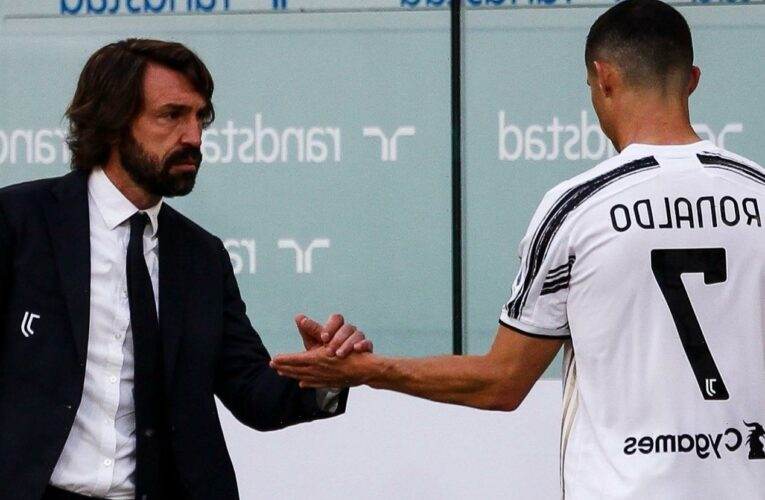 Cristiano Ronaldo 'happy and smiling' in changing room despite being subbed off against Inter, reveals boss Andrea Pirlo