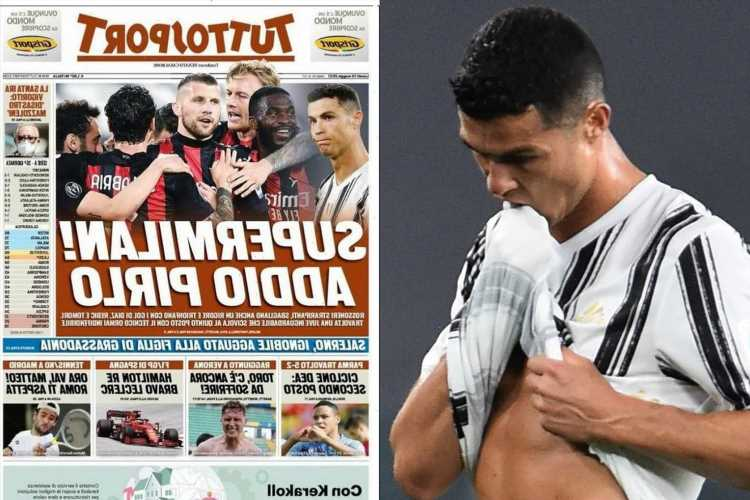 Cristiano Ronaldo blasted in Italian press for 'one of his worst games EVER' vs Milan with doubts over Juventus future
