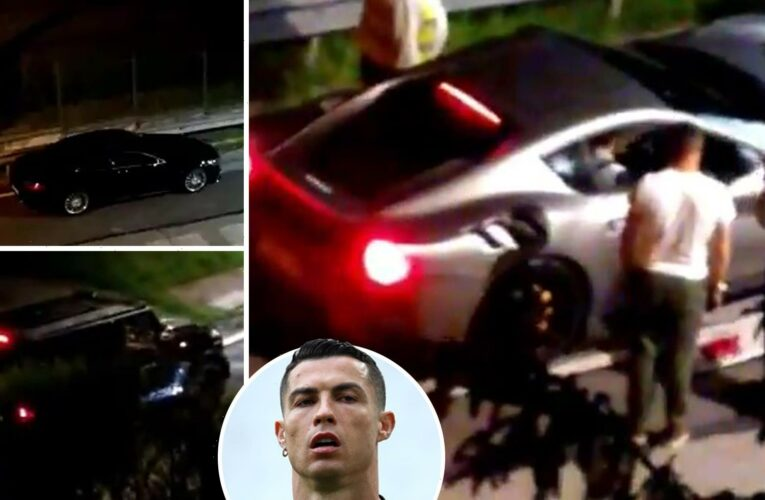 Cristiano Ronaldo fuels Juventus transfer exit speculation after having £17m fleet of supercars loaded onto lorry