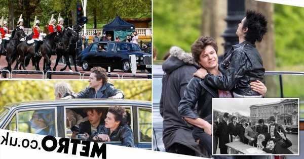 Danny Boyle's Sex Pistols cast recreate iconic Buckingham Palace moment
