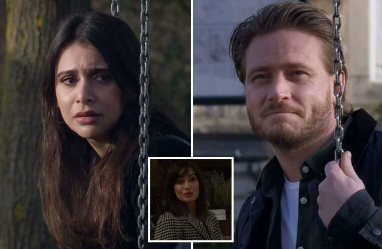 Emmerdale fans spot clue David Metcalfe and Leyla Harding will have a shock affair