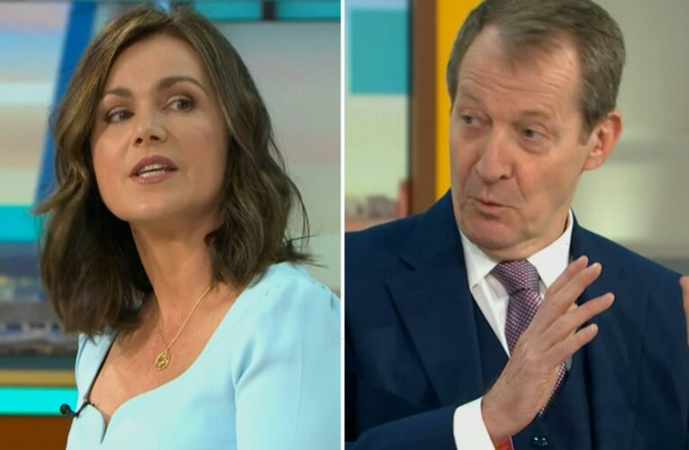 GMB viewers left cringing as Susanna Reid clashes with new co-host Alastair Campbell on his first day