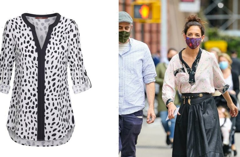Hit the City Like Katie Holmes in Your Own 2-Tone Blouse