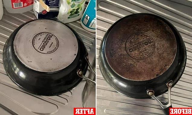 Home cook transforms rusty, burnt pots and pans using household items