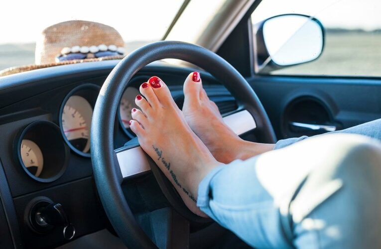 Is it legal to drive barefoot and can you be fined for doing so?
