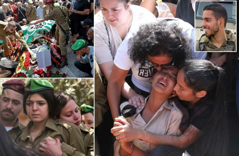 Israeli soldier killed by Hamas in Gaza attacks mourned by hundreds at funeral