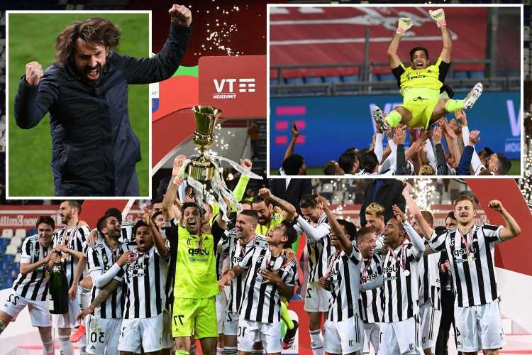 Juventus win Coppa Italia as Federico Chiesa scores late to give Gianluigi Buffon, 43, yet another trophy