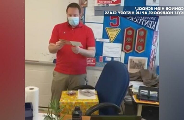 Kentucky high schoolers give AP U.S. history teacher pair of Air Jordans on the day of their final exam