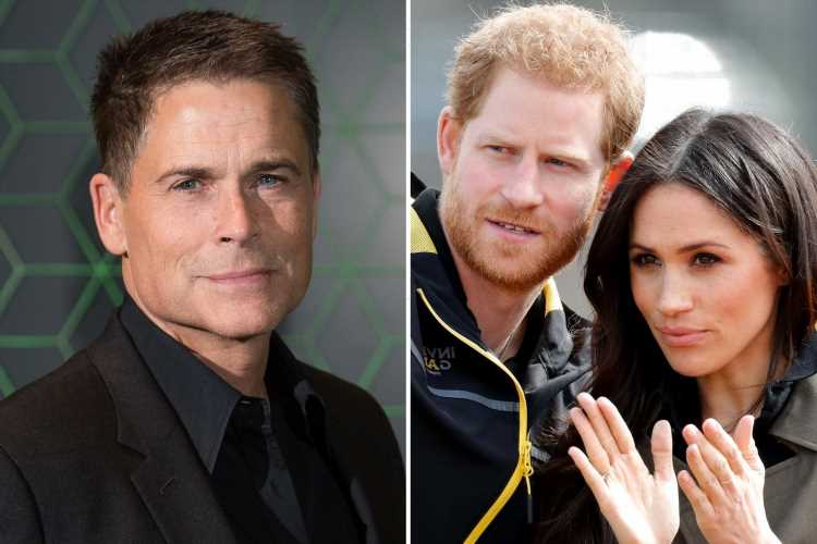 LA is 'never going to be the same' after Meghan Markle and Prince Harry's move, neighbour Rob Lowe jokes