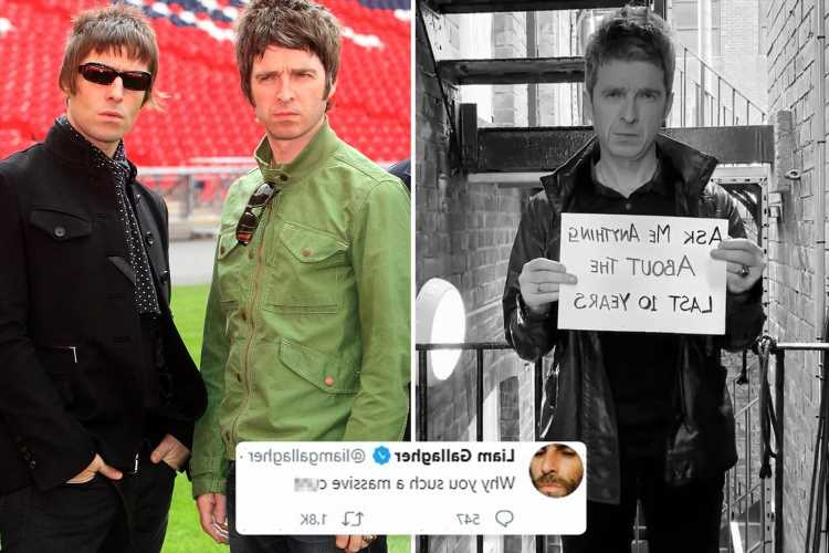 Liam Gallagher brands Noel a 'massive c**t' on Twitter as he reignites feud AGAIN