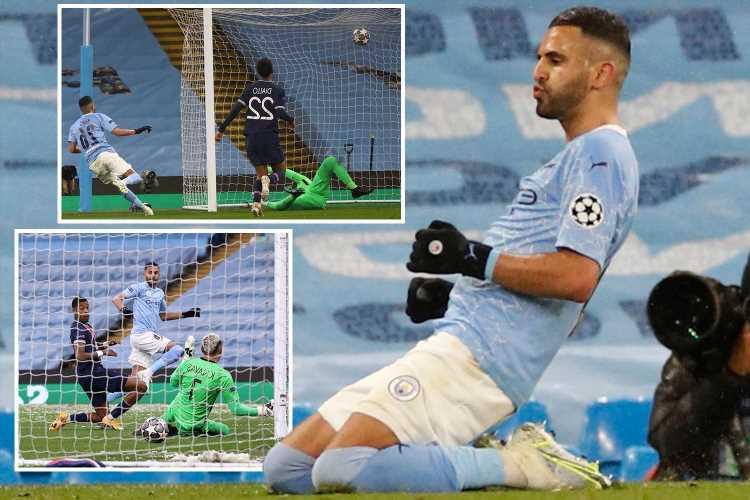 Man City 2 Paris Saint-Germain 0 (Agg 4-1): Riyad Mahrez's double send Citizens into first-ever Champions League final