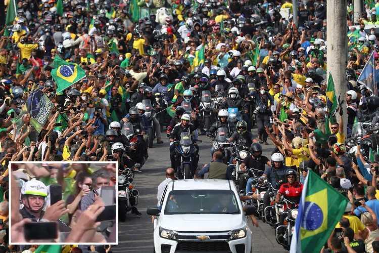 Maskless Brazil President Bolsonaro leads protest AGAINST lockdowns despite 500,000 dying from Covid