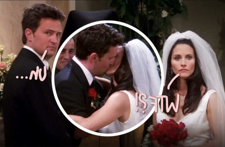 Matthew Perry & Courteney Cox Are COUSINS?! But All Those Monica/Chandler Kissing Scenes…