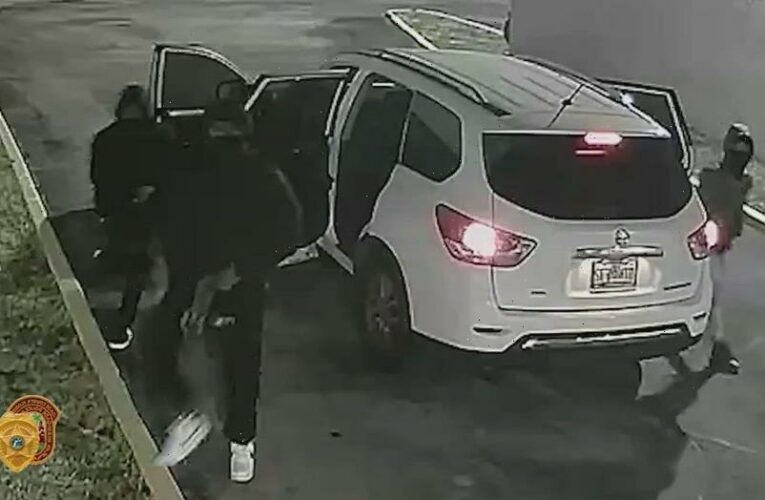 Miami-Dade police release surveillance video of armed suspects in banquet hall mass shooting
