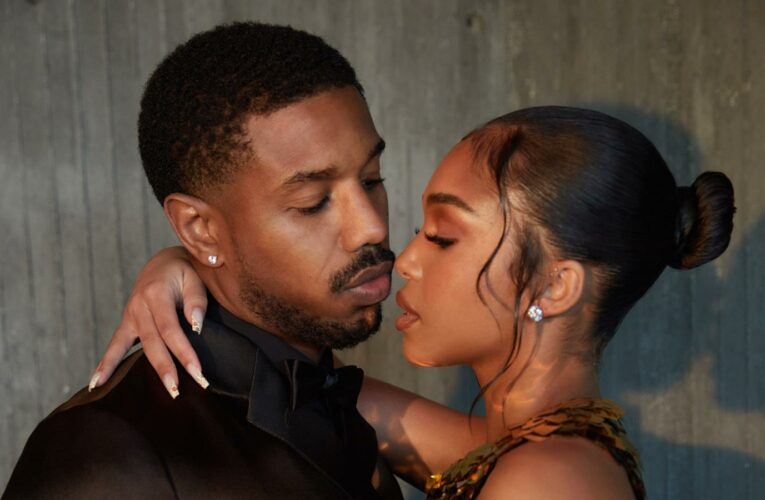 Michael B. Jordan & Lori Harvey Glam Up in Prada for 'Without Remorse' Premiere at Home