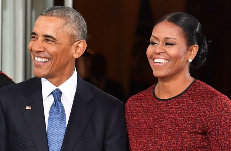 Michelle Obama Knit Husband Barack a Crewneck Sweater That 'He Loves'