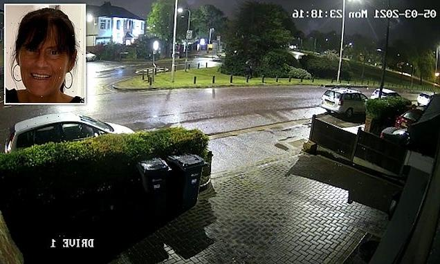 Moment grandmother is grabbed off street by her suspected killer