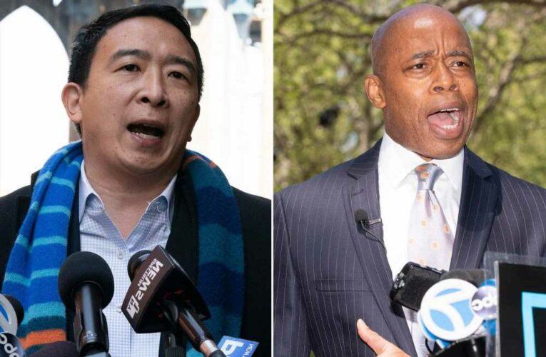 New poll has Eric Adams edging out a slipping Andrew Yang for NYC mayor