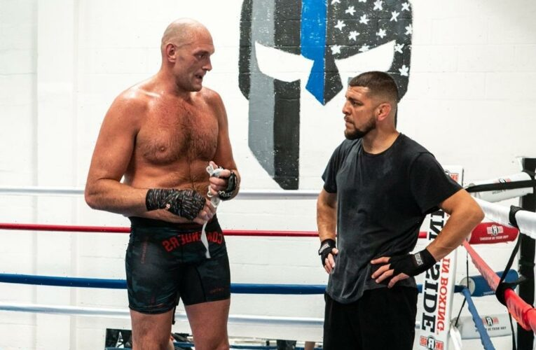 Nick Diaz dubs Tyson Fury 'the last of a dying breed' after boxer trains with UFC legend and issues demand to Dana White