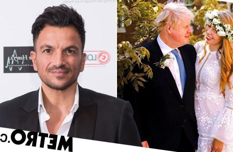 Peter Andre congratulates Boris Johnson on marriage with 'BJ' joke