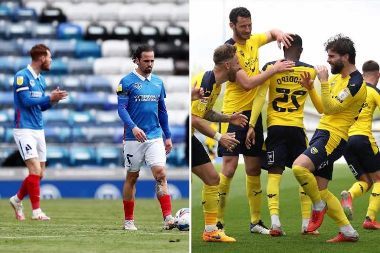 Portsmouth blow play-off hopes with defeat against Accrington as Oxford sneak into top six and Charlton miss out