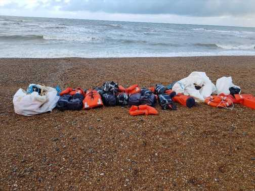 TONNE of cocaine worth £80 million washes up on Sussex coast after locals spot baggies tied to life jackets