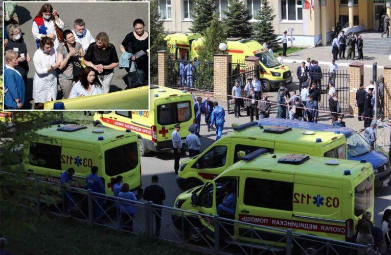 Teen gunman kills at least 7 kids, teacher in Russia school shooting