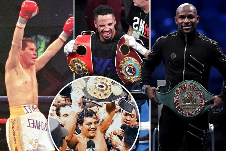 Top 10 boxers with the longest winning streaks, including Julio Cesar Chavez, Roberto Duran and Floyd Mayweather Jr