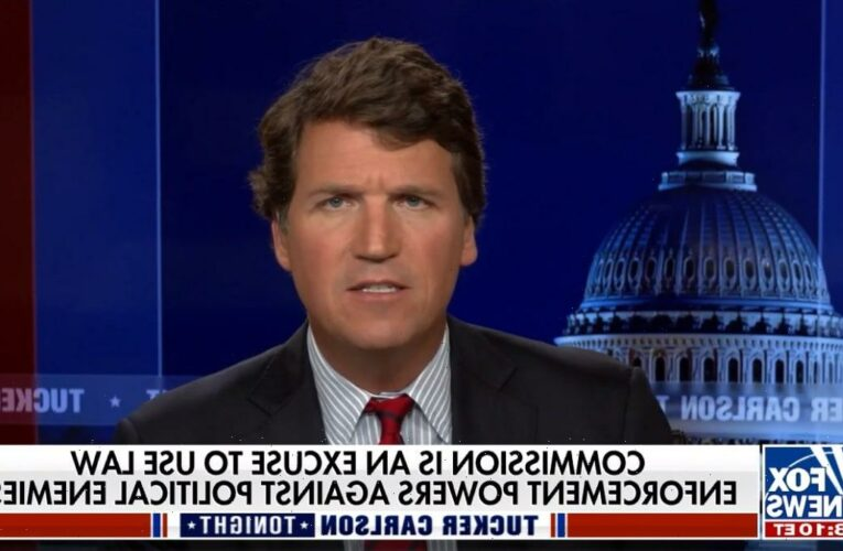 Tucker Carlson Gets Mad at Capitol Cops Who Want Jan 6 Attack Investigated (Video)