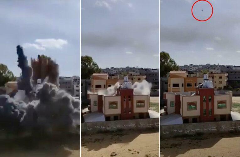 Video captures Israeli 'roof knock' before Gaza building is destroyed