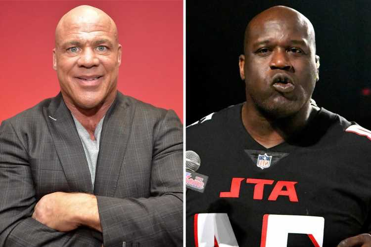 WWE legend Kurt Angle reveals Shaquille O'Neal text him begging retired star to join AEW
