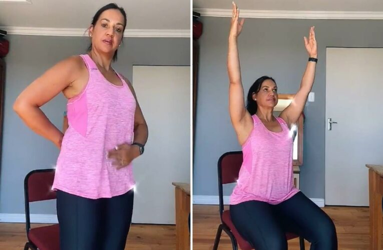Woman shows off easy way to get a flatter stomach WITHOUT doing sit ups and not going to the gym