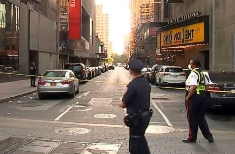 21-year-old marine injured in Times Square shooting between CD vendors