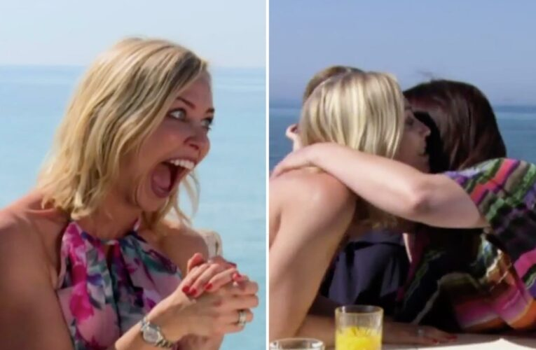 A Place in the Sun's Laura Hamilton caught off guard as screaming guest KISSES her in emotional outburst