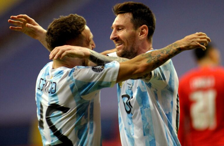 Argentina into Copa America quarters after beating Paraguay thanks to Gomez on historic night for Lionel Messi