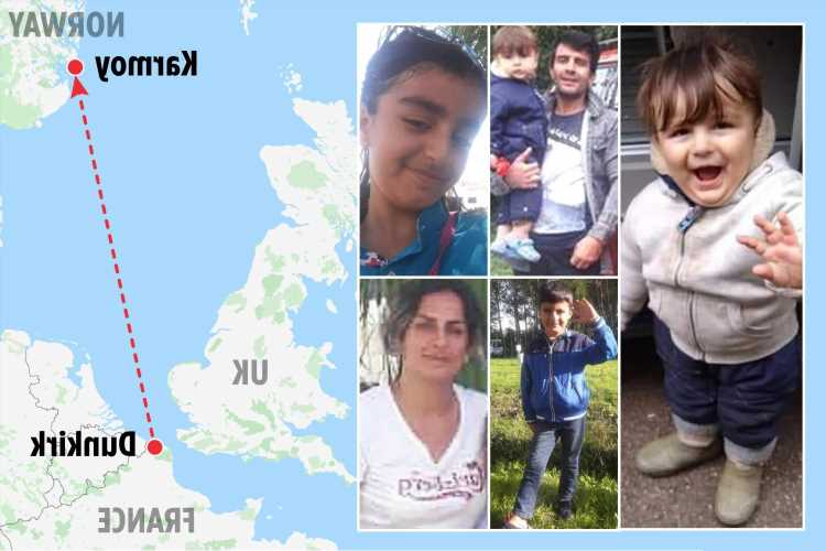Baby who vanished on deadly Channel crossing that killed his family washes up dead 600 miles away on Norway beach