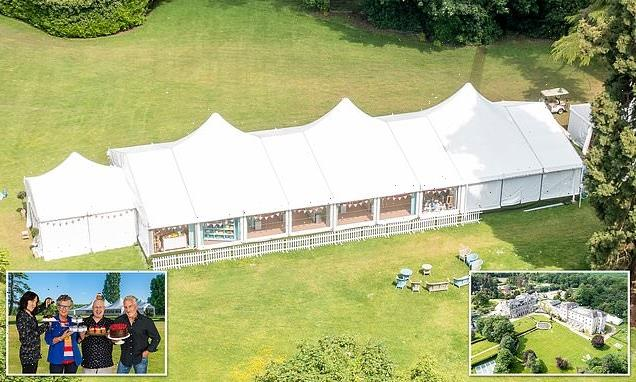 Bake Off: Tent erected at Down Hall Hotel as series 12 filming begins