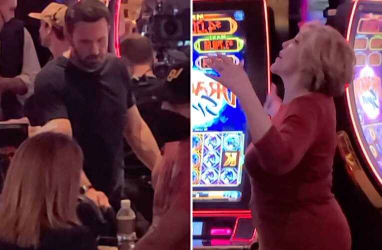 Ben Affleck seen filming on set with JLo's mom Guadalupe in Las Vegas hotel after the actor & singer got back together