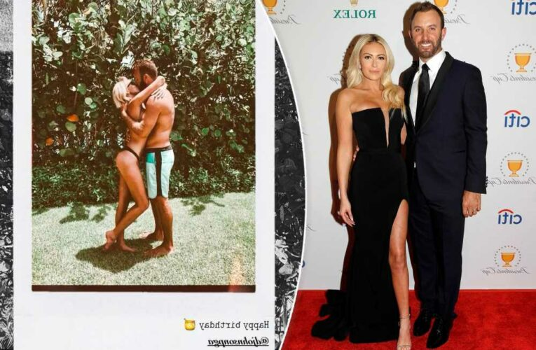 Bikini-clad Paulina Gretzky kisses Dustin Johnson in birthday post